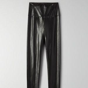 aritzia vegan leather legging